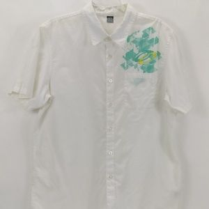 Oakley Short Sleeve Shirt Men's Size XL White